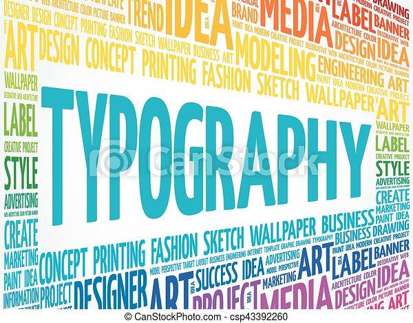 TYPOGRAPHY word cloud - csp43392260