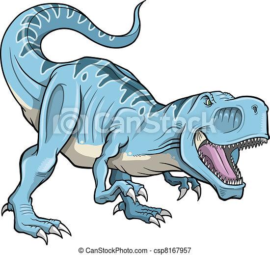 Tyrannosaurus Dinosaur Vector - csp8167957