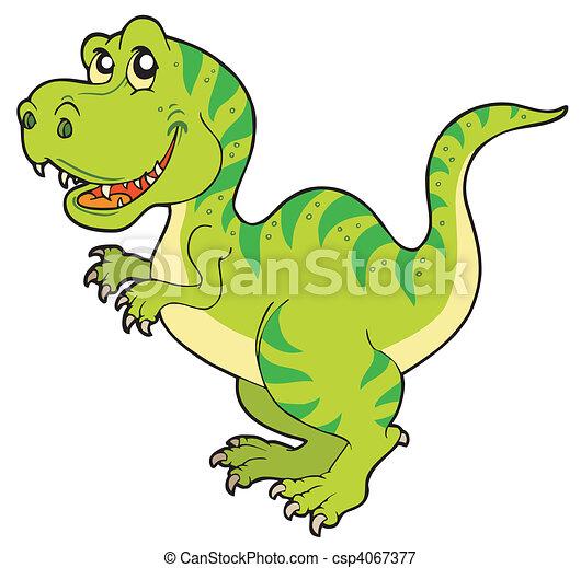 tyrannosaurus rex, caricatura - csp4067377