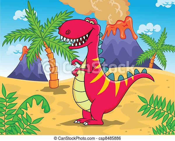 tyrannosaurus, rysunek - csp8485886