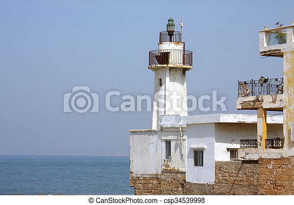 Tyre Lighthouse, Lebanon - csp34539998