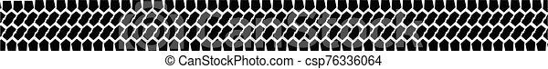 Tyre Tread Marks Web Banner On White - csp76336064
