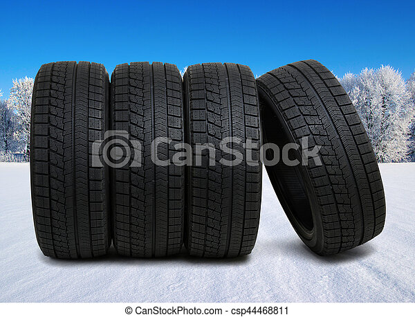 tyres for car on snow - csp44468811