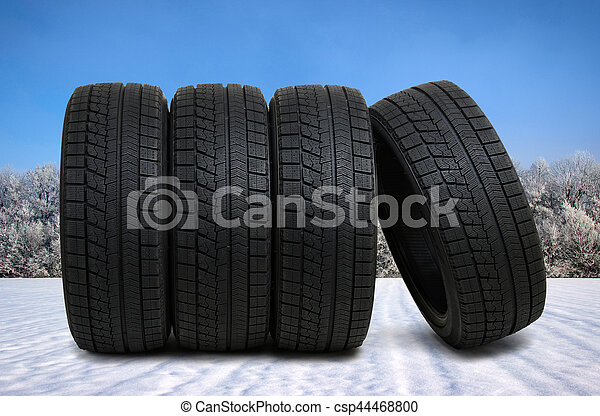 tyres for car on snow - csp44468800