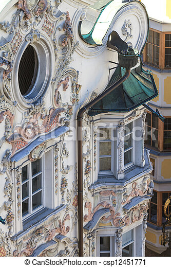 Tyrolien maison style baroque fa ade style tyrol tyrolien maison innsbruck autriche - Maison style baroque ...