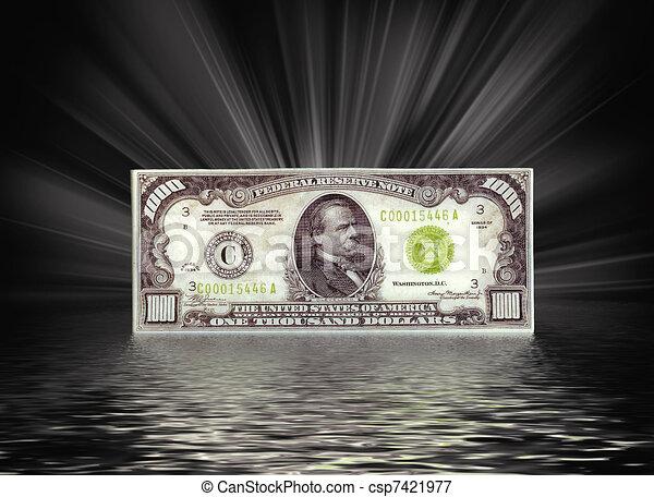tysiąc, halabarda, dolar - csp7421977