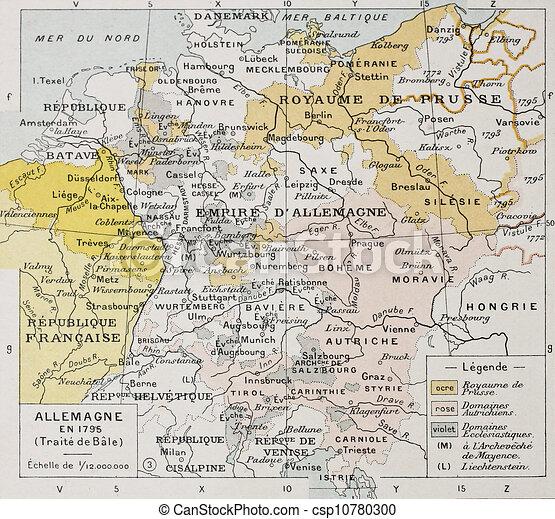 Karta Nord Italien.Tyskland Italien Nordlig Peace Karta Classique Vidal Gammal