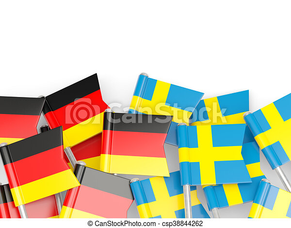 tyskland sverige vit flaggan isolerat isolerat