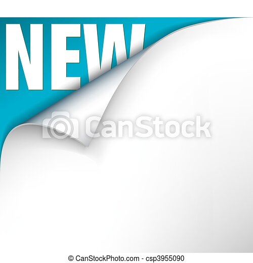 tytuł, ufryzować, papier, nowy - csp3955090