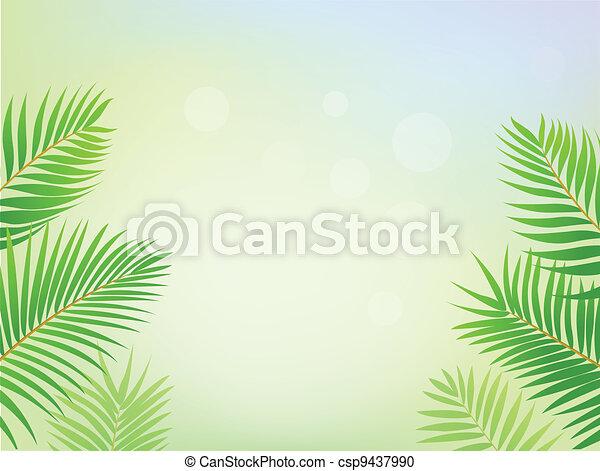 ułożyć, dłoń, tło, drzewo - csp9437990