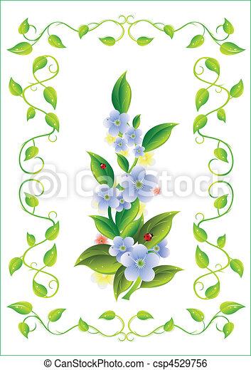 ułożyć, kwiat - csp4529756