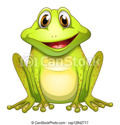 uśmiechanie się, żaba - csp12842717