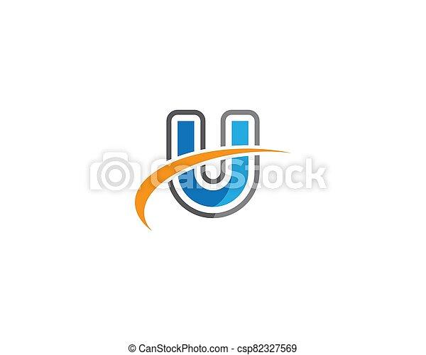 U letter logo vector icon - csp82327569