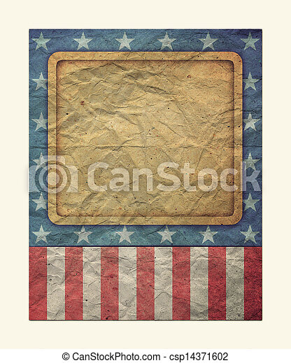 U S A Flag for July 4th, Labor Day - csp14371602
