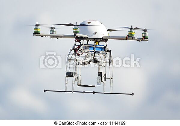 UAV drone flying - csp11144169