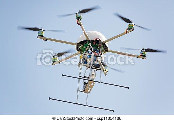 uav drone in sky - csp11054186