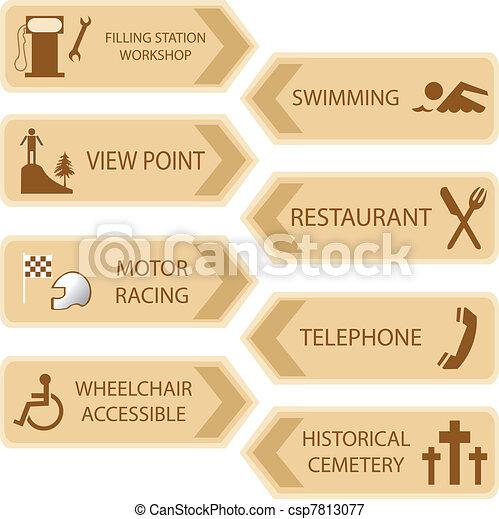 Lugares turísticos iconos - csp7813077