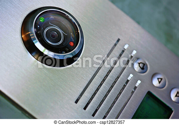 ubytovat se, přístup, video, domácí telefon - csp12827357