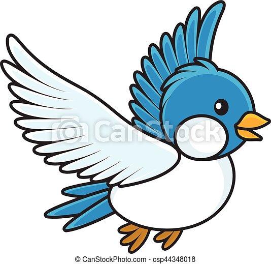 Uccello blu stile uccellino volare illustrazione for Uccellino disegno