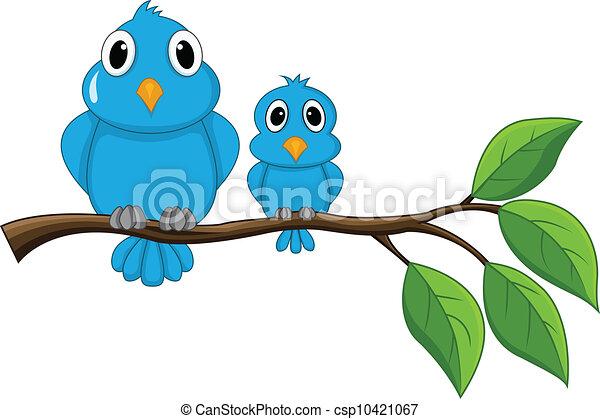 uccello, ramo, seduta - csp10421067