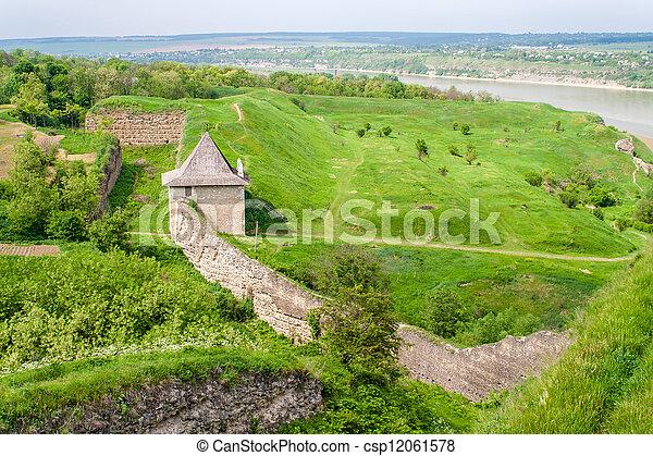 ucraina, parete, khotyn, tenda, fortezza - csp12061578