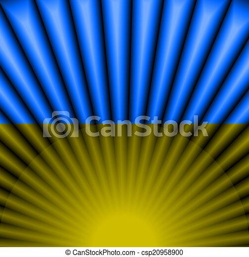 ucraino, colorare, luce, astratto, bandiera, fondo - csp20958900