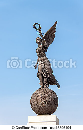 Monumento en honor a la independencia de Ucrania, Kharkov, Ucrania - csp15396104