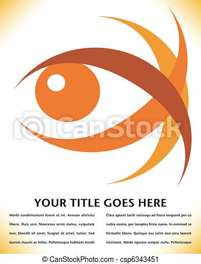 uderzający, oko, design. - csp6343451