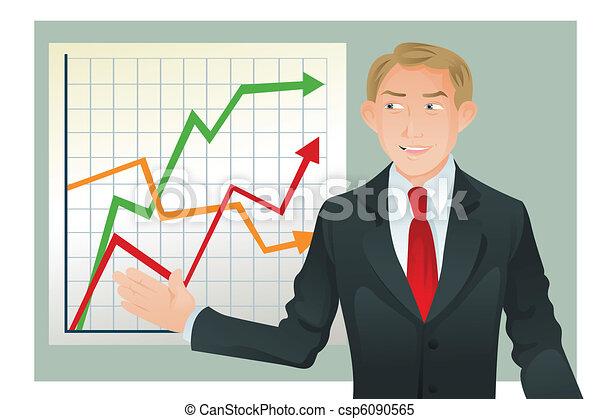 udzielanie, biznesmen, prezentacja - csp6090565