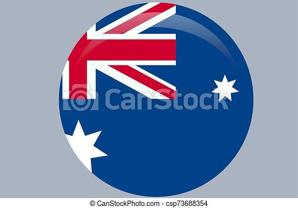 ufficiale, flag., colori, proporzione, correctly., bandiera australia, nazionale - csp73688354