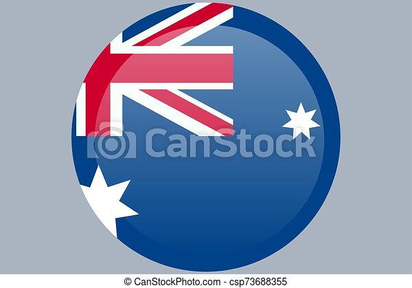 ufficiale, flag., colori, proporzione, correctly., bandiera australia, nazionale - csp73688355