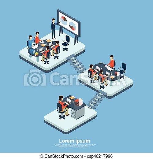 ufficio affari, pavimento, ditta, moderno, interno, struttura - csp40217996