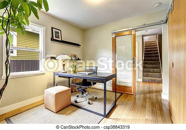 Piccolo Ufficio In Casa : Ufficio legno duro staircase floor piccolo interno