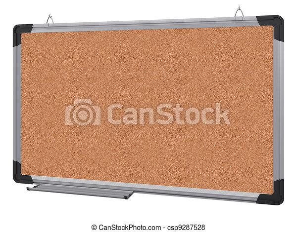 ufficio, magnetico, materiale, interpretazione, board., cork., 3d - csp9287528