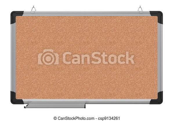 ufficio, magnetico, materiale, interpretazione, board., cork., 3d - csp9134261