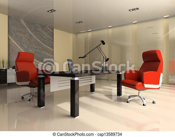 Ufficio Moderno Foto : Ufficio moderno due interno poltrone rosso