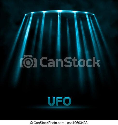UFO background - csp19603433