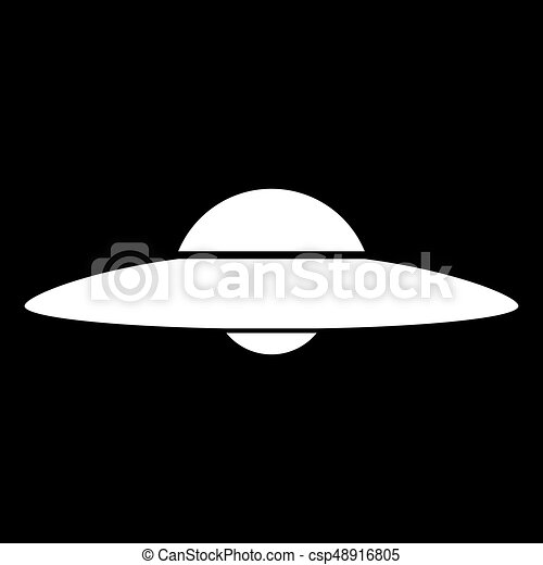 UFO. Flying saucer icon . - csp48916805