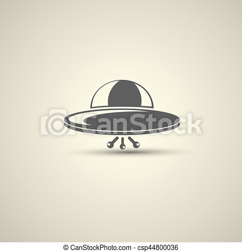 Ufo flying saucer vector icon - csp44800036
