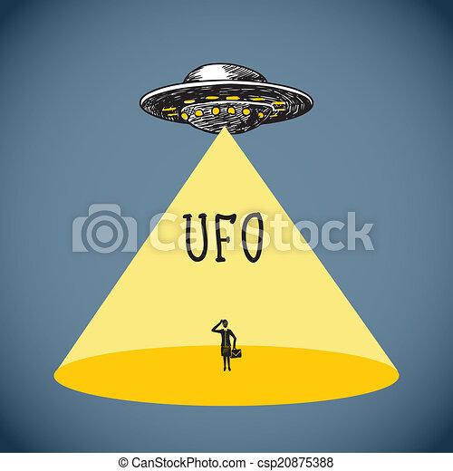 Ufo poster sketch - csp20875388
