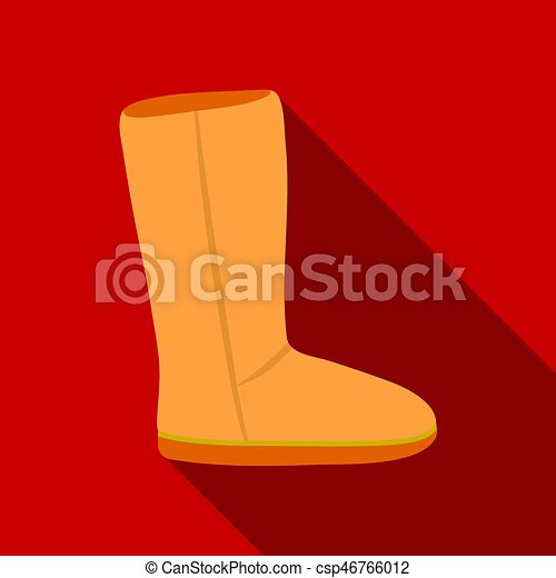 71d06bb3a73 Ugg boots icon in flat style isolated on white background. Shoes symbol  stock vector illustration.