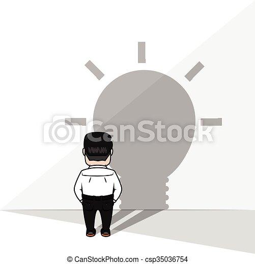 uggia, idea, uomo affari - csp35036754
