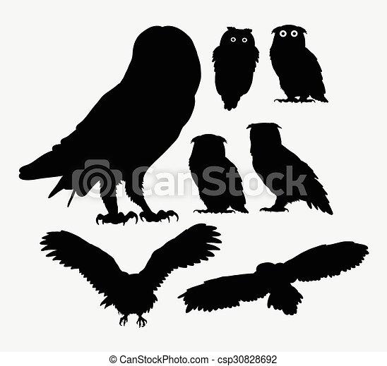 uggla silhouettes fågel maskot uggla använda bra