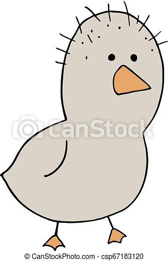 Ugly Chicken Illustration