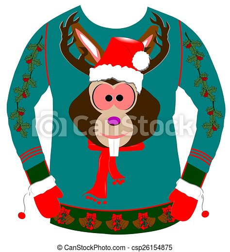 ugly sweater for christmas , csp26154875