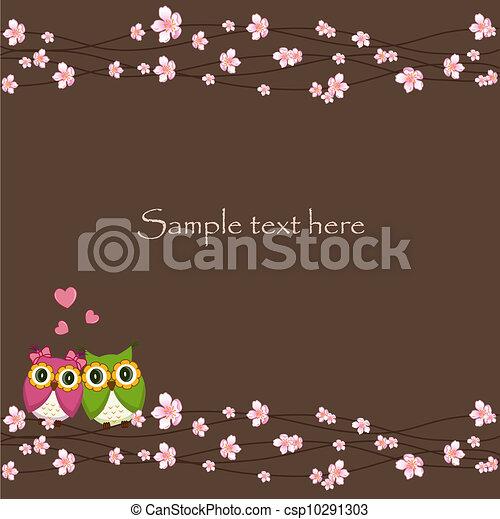 uilen, liefde, twee, gekke  - csp10291303