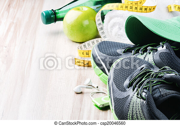 uitrusting, lopende schoenen, fitness - csp20046560