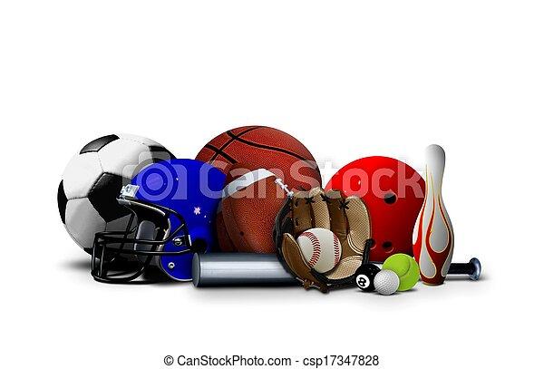 uitrusting, sportende, gelul - csp17347828
