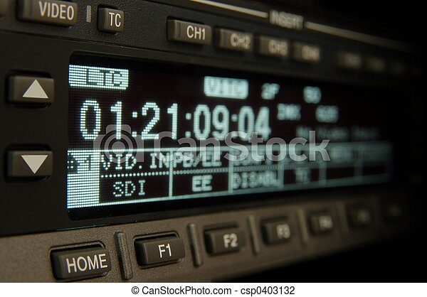 uitzenden, videorecorder, display - csp0403132