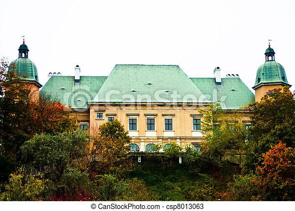 Ujazdowski Castle, Warsaw. Poland - csp8013063